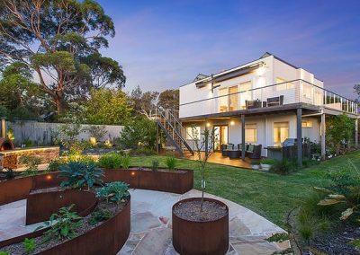 Image of home renovation & backyard