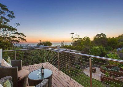 View from the balcony Mornington Peninsula